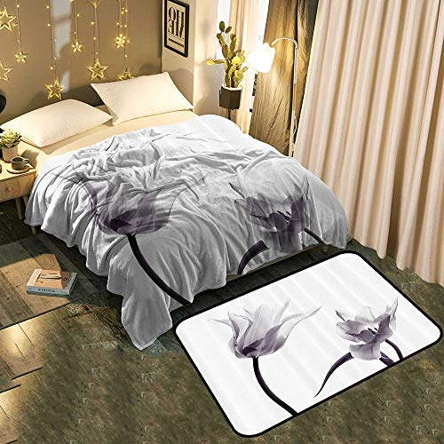 TableCovers&Home Super Soft Plush Blanket and Non Slip Absorbent Carpet Set Durable and Resistant to Soiling Blanket 50