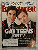 Darren Criss & Chris Colfer (Blaine Anderson & Kurt Hummel) - Glee - Gay Teens on TV - Entertainment Weekly - #1139 - January 28, 2011