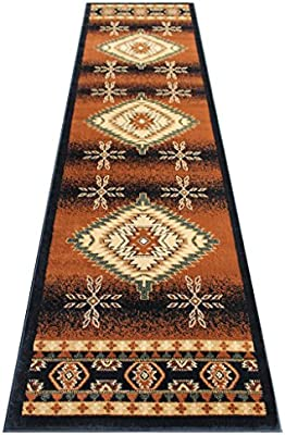 Amazon Com South West Area Rug Runner 32 Inch X 10 Feet Black Bellagio 357 Kitchen Dining