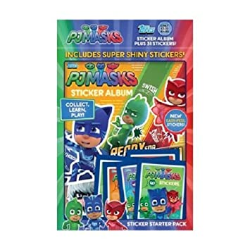 Topps PJ Masks Sticker Starter Pack (Álbum)