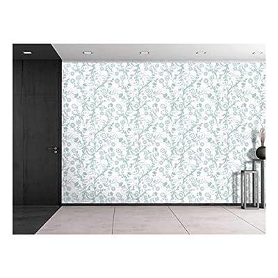 Premium Creation, Handsome Artisanship, Large Wall Mural Seamless Floral Pattern Vinyl Wallpaper Removable Decorating