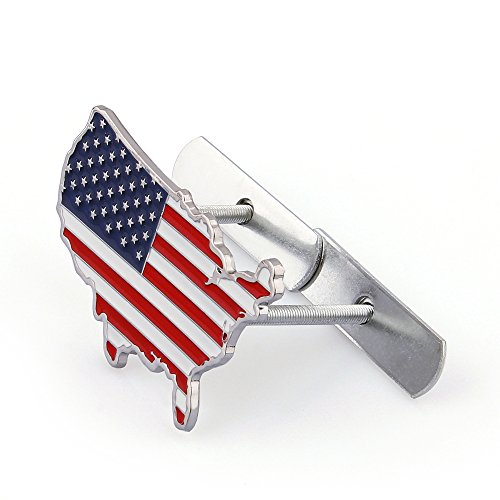 - Areyourshop 3D Metal Front Grille Grill Badge Emblem Decals Hood Car Flag USA United States