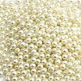 500X 4mm Kugel Perlen Glasperlen Perle Weiß Basteln Neu