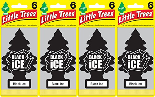 Little Trees U6P-60155 Black Ice Air Freshener, (Pack of 24)