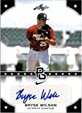 Leaf BRYSE Wilson 2015 Certified Autograph 1ST Ever Printed Perfect Game Rookie Card #213! Atlanta Braves!