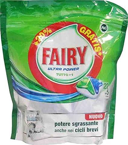 5 x Fairy Lavavajillas Ultra Power Original 22 + 5 Caps 421 ...