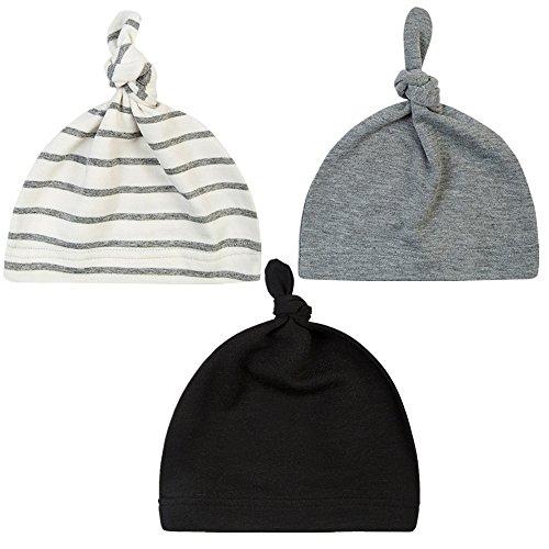Unisex Baby Adjustable Knot Hat Cotton soft Cute Knit Hat Cap (3 color)