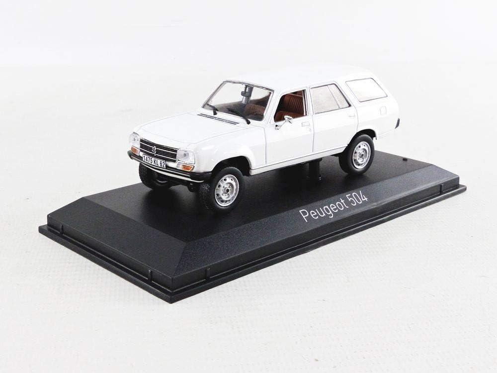 Norev Peugeot 504 Break Kombi Dangel 1980 wei/ß Modellauto 1:43