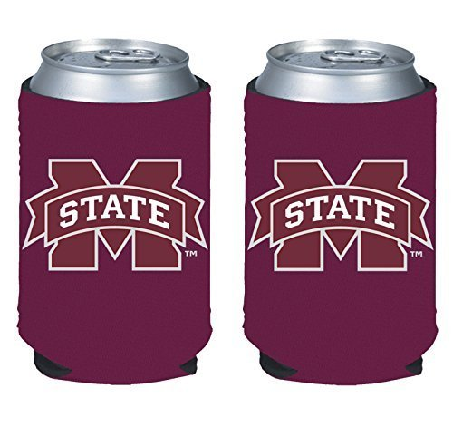 (NCAA College 2014 Team Logo Color Can Kaddy Holder Cooler 2-Pack (Mississippi State Bulldogs))