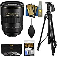 Nikon 17-55mm f/2.8 G DX AF-S ED-IF Zoom-Nikkor Lens with Pistol Grip Tripod + 3 Filters Kit for D3200, D3300, D5300, D5500, D7100, D7200 DSLR Cameras