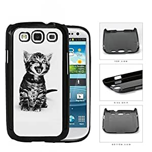 Cute Kitty Cat Portrait Hard Plastic Snap On Cell Phone Case Samsung Galaxy S3 SIII I9300