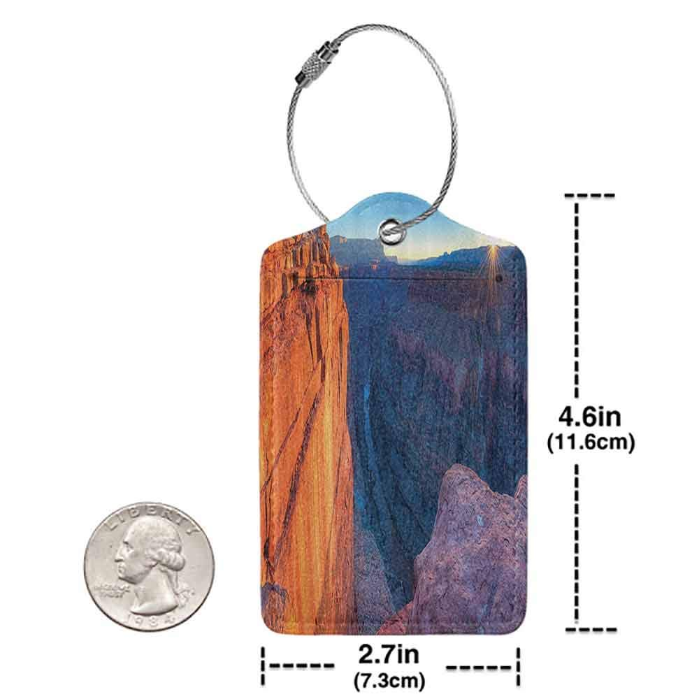Multi-patterned luggage tag National Landmarks Sunrise In Grand Canyon National Park Double-sided printing W2.7 x L4.6