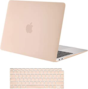 MOSISO MacBook Air 13 inch Case 2020 2019 2018 Release A2179 A1932 with Retina Display, Plastic Hard Shell Case & Keyboard Cover Only Compatible with MacBook Air 13 with Touch ID, Camel