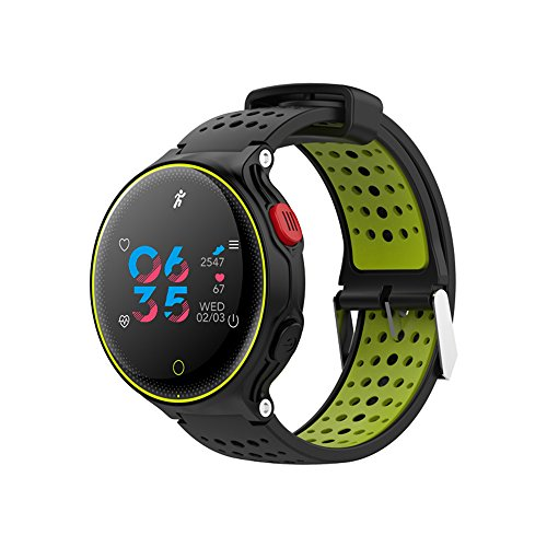 Businda Bluetooth Smart Watch, Watch Bracelet with Calorie Counter Watch Pedometer with Heart Rate Blood Pressure Monitor for Men, Women and Kids,Green by Businda