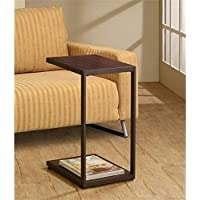 Bowery Hill Snack Table in Dark Brown