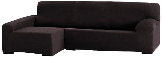 Eysa - Teide funda para chaise longue barata, izquierda vista frontal, 240 cm, color marrón