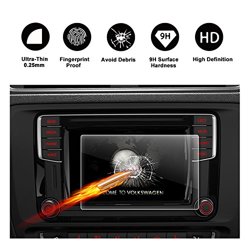 2017 2018 Volkswagen VW Jetta 6.33'' Composition Media Touch Screen Car Display Navigation Screen Protector, R RUIYA HD Clear TEMPERED GLASS Protective Film by R RUIYA
