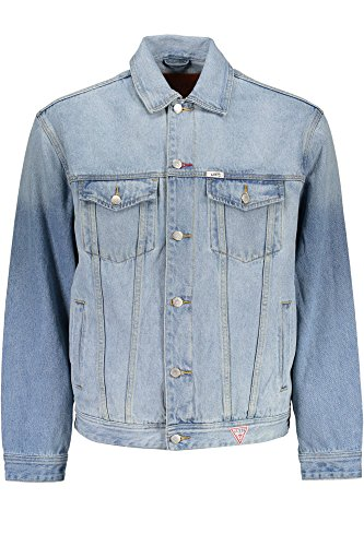 M7FN48D2IB0 Chaqueta GUESS Azzurro WRST XL Deportiva Hombre Jeans 5znHHqT7