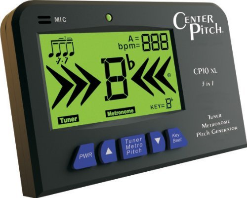 Board Chromatic Guitar Tuner (CenterPitch CP10XL Intonation Trainer and Tuner)
