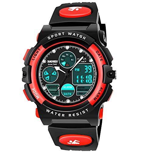 SOKY Birthday Gifts for 6-15 Year Old Teen Boys, LED 50M Waterproof Sports Digital Watches for 7-9 Year Old Boys Girls Electronic Teenage Toys for Boys Age 6-8 Christmas Presents for Boys SKUSW04