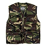 Kids Woodland Safari Vest, Hunting Vest, Kids Camo Gillet Vest, Ages 3-13yrs (Age 5-6)