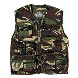 Kids Woodland Safari Vest, Hunting Vest, Kids Camo Gillet Vest, Ages 3-13yrs (Age 5-6)