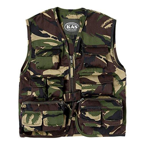 Kids Woodland Safari Vest, Hunting Vest, Kids Camo Gillet Vest, Ages 3 - 13yrs (Age 7-8) (Camouflage Vest)