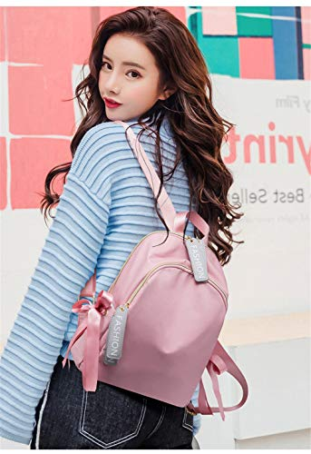 2018 Corea Bolso Mochila de de de viento BISSER Girl lona Rosado Mochila universitario color Mochila de Simple lona mujer Mochila sólido XgxY8