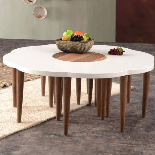 Amazon.com: Mare Collection Crux Walnut Coffee Table - Sets ...