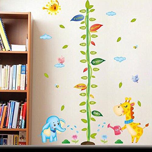 Animals Elephant Giraffe Height Measurement Wall Sticker - 8