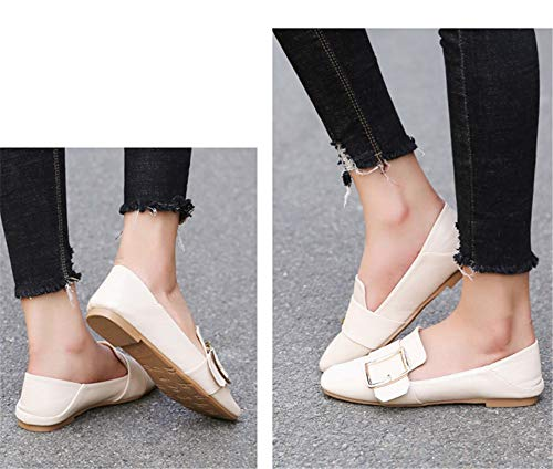 ladies FLYRCX comfortable fashion retro and EU Spring single fashion shoes work 38 autumn shoes flat shoes casual fxqSFf