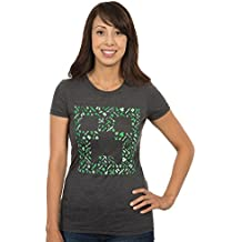 JINX Minecraft Women's Creepy Premium Cotton/Poly T-Shirt