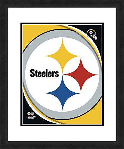 NFL Pittsburgh Steelers Logo, Beautifully Framed and Double Matted, 18
