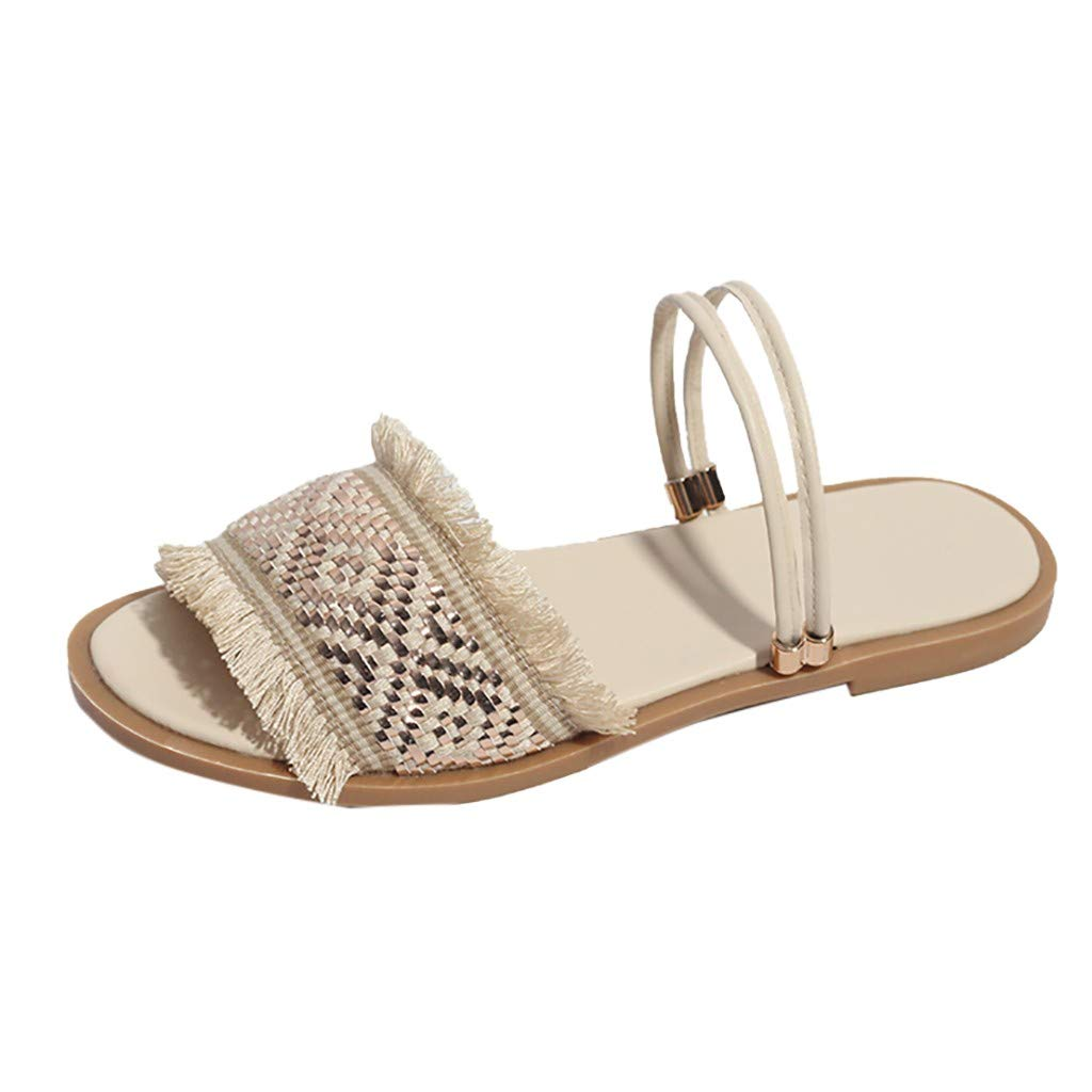 33a32ac7f2313 Amazon.com: Pongfunsy Women's Sandals Women Casual Round Toe Sandals ...