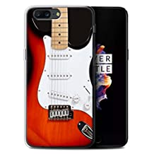 STUFF4 Gel TPU Phone Case / Cover for OnePlus 5 / Red Electric Design / Guitar Collection