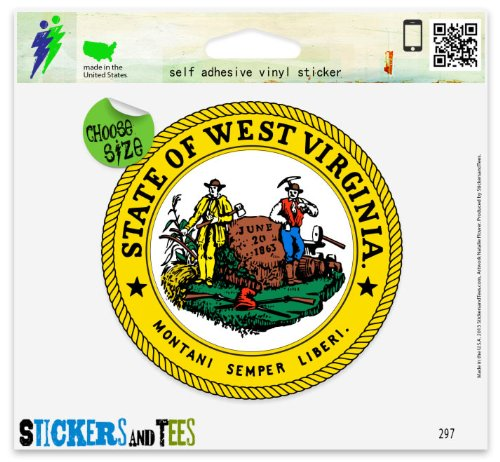 West Virginia State Seal Car Sticker Indoor Outdoor 4