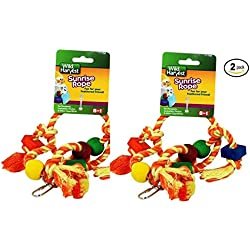 Wild Harvest Sunrise Rope Toy for Parakeets, Cockatiels, Finches - Pack of 2