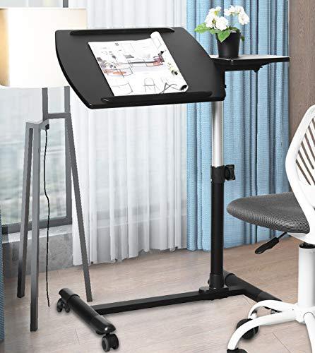 Aingoo Mobile Computer Desk Small Rolling...