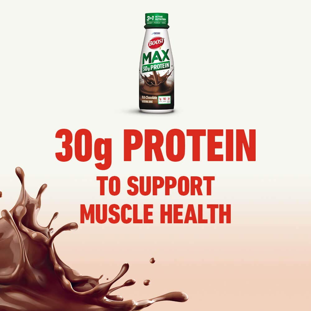 BOOST Max Nutritional Drink, 30g Protein, Rich Chocolate, 11 Ounce Bottle (Pack of 12) by Boost Nutritional Drinks