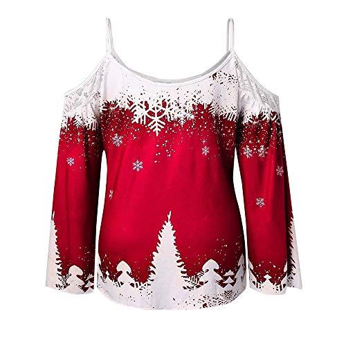 Marca Camicia Da De Mode Maniche Donna Xl Lunghe V Stampate A Scollo Elegante ManocolorY1 rotSize Con c34jLR5qAS