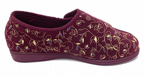 lowest price 2e4eb 58ec4 ... Dunlop - Zapatillas de estar por casa para mujer rojo - Wine ...