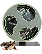 """Silent Runner Glow Wheel - 12"""" Regular - Silent, Fast, Durable Exercise Wheel - Sugar Gliders, Hamsters, Female Rats, Mice & Small Pets"""