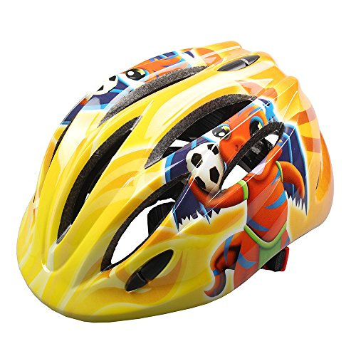Price comparison product image Megach Bicycle Helmet with 10-hole Breathable Adjustable Mountain Road Cycling Helmet Safety Head Protect Multipurpose Helmet for Girls/Kids (yellow bee)