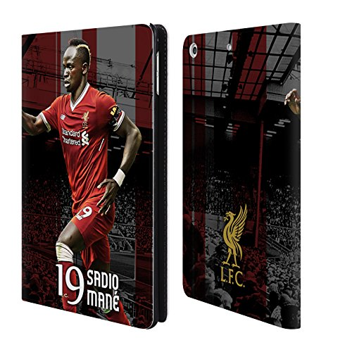 Official Liverpool Football Club Sadio Mané 2017/18 First Team Group 1 Leather Book Wallet Case Cover For iPad mini 4