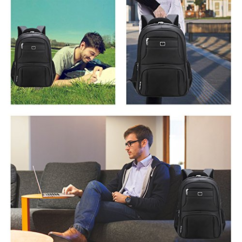 Laptop Backpack Computer Business Bag Water-Proof with School Travel Backpack for 17 Inch Backpack by BTKD (Image #5)