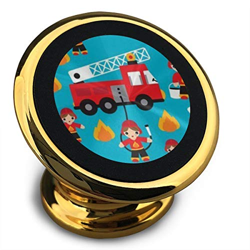 Fire Truck and Hero Boys Car Magnetic Car Phone Mount Holder - Magnetic Mounts 360 Degree Rotation from Dashboard - Universal Car Mount Holder Compatible with All Smartphones