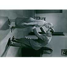 """Vintage photo of A scene from the film """"Under False Flag"""" casting by Carin Swensson with Allan Bohlin, 1934."""