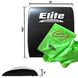 Elite Sportz Abdominal Sit Up Pad - Very Comfortable and Gives Great Lower Back Support, Helping to Remove all the Strain, Making Sit Ups Easy - Bonus Resistance Band Included