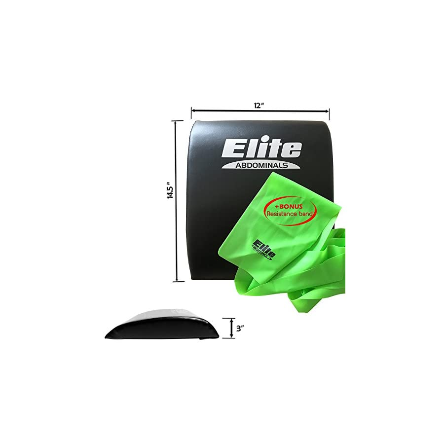 Elite Sportz Abdominal Sit Up Pad and Gives Great Lower Back Support, Helping to Remove All The Strain, Making Sit Ups Easy Bonus Resistance Band Included