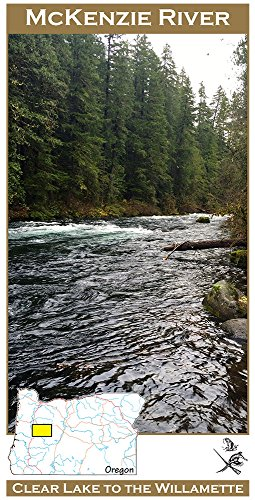 McKenzie River 11x17 Flyfishing Map